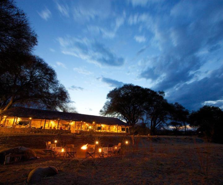 Ruaha River Lodge im Ruaha NP im Süden Tansanias